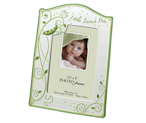 Baby Room Decor Green Picture Frame Sweet Pea
