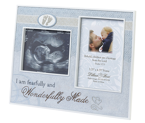 Baby Room Decor Ultrasound Picture Frame Blue