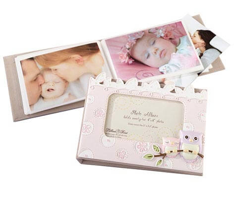 Baby Photo Album Keepsake Pink Owl