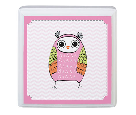 Baby Girl Room Decor Sign Pink Owl Animal