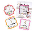 Pink Watercolor Milestone Card Set(1-15)
