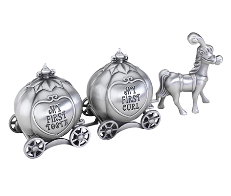 Baby Keepsake Silver Tooth and Curl Box Fairytale