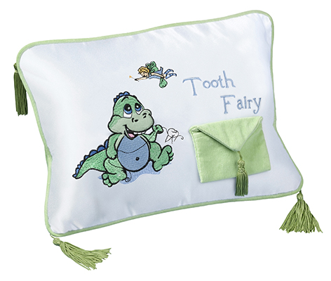 Baby Keepsake Tooth Fairy Pillow Dinosaur