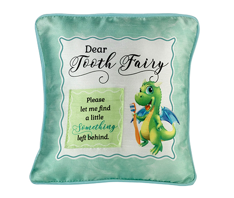 Green Dragon Tooth Fairy Pillow