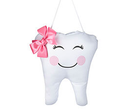 Pink Tooth Fairy Pocket Pillow
