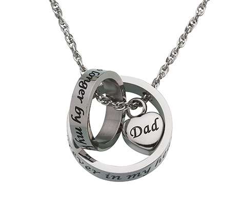 Memorial Jewelry Dad Forever in my Heart Necklace