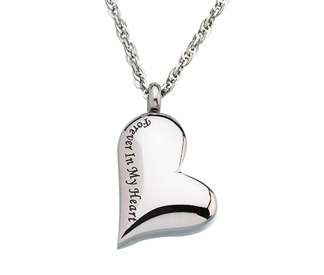 Forever in my Heart Memorial Jewelry Necklace