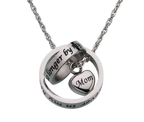 Memorial Jewelry Mom Forever in my Heart Necklace