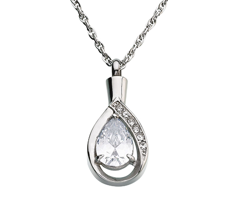 Tear Drop Sympathy Memorial Necklace Jewelry