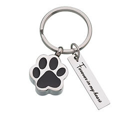 Pet Memorial Forever by My Side Jewelry Key Ring