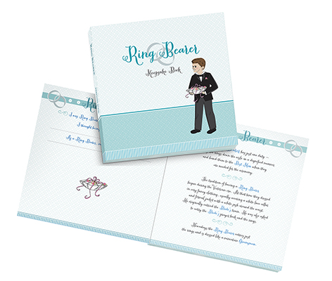 Ring Bearer Keepsake Book Wedding Party Gift