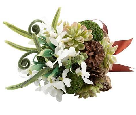Woodland Outdoor Theme Wedding Moss Bouquet