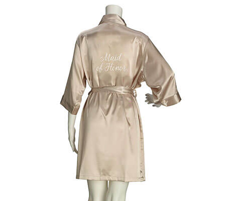 Maid of Honor Satin Robe - Available 3 Colors