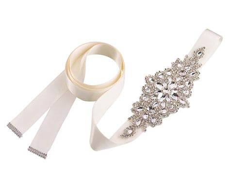 Ivory Crystal Bridal Belt for Wedding Dress