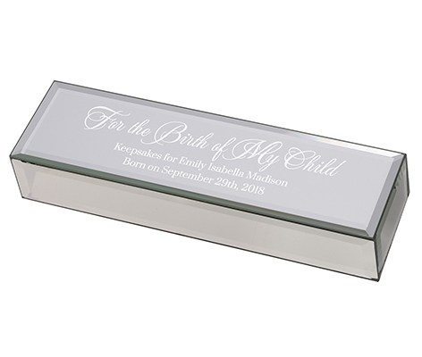 Personalized Mirrored Silver Certificate Box
