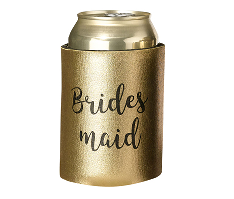 Gold and Black Bridesmaid Cozy