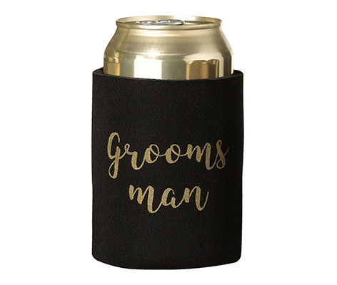 Black and Gold Groomsman Cozy