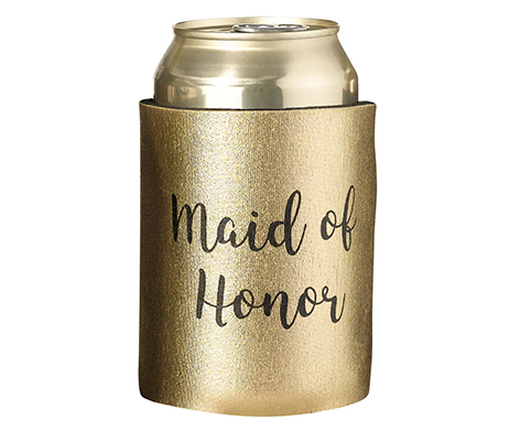 Gold and Black Maid of Honor Cozy