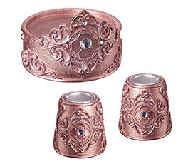 Copper Candle Holders Set