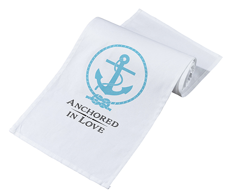 Anchored in Love Table Runner Coastal Wedding