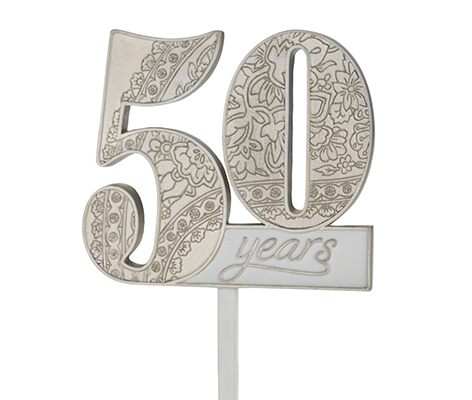 50th Anniversary Decor Number Cake Topper