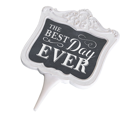 Chalkboard Best Day Ever Cake Topper