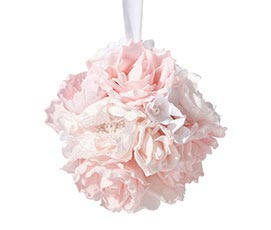 Blush Pink Rose Hanging Flower Ball Wedding Decor
