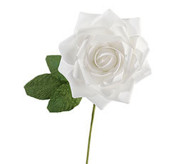 "10"" White Rose Decoration"
