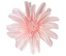 Set of 2 Pink Flower Decorations