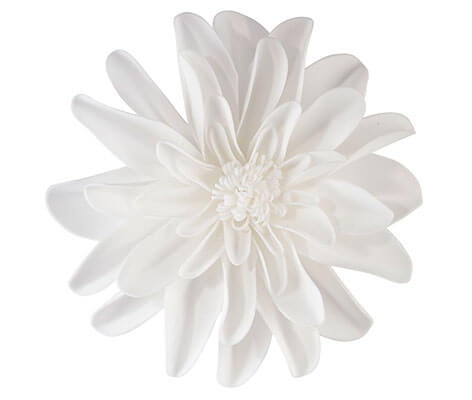 Set of 2 White Flower Decorations
