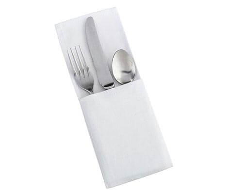 White Country Table Decor Silverware Holders Set
