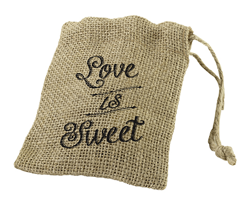 Set of 4 Burlap Favor Bags