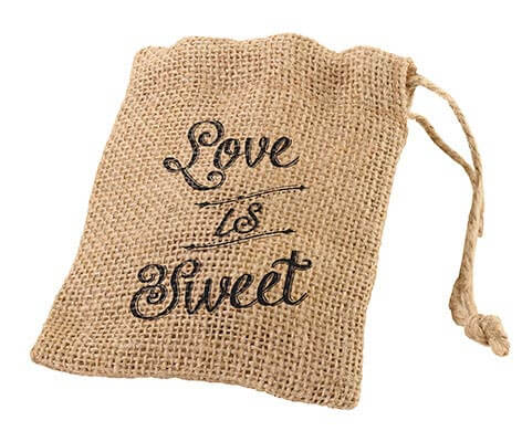 Rustic Country Wedding Burlap Favor Bags