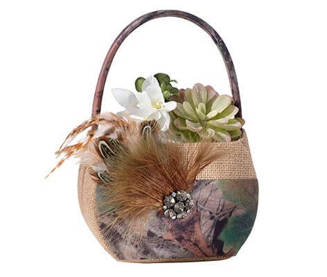 Rustic Camouflage Wedding Camo Flower Girl Basket