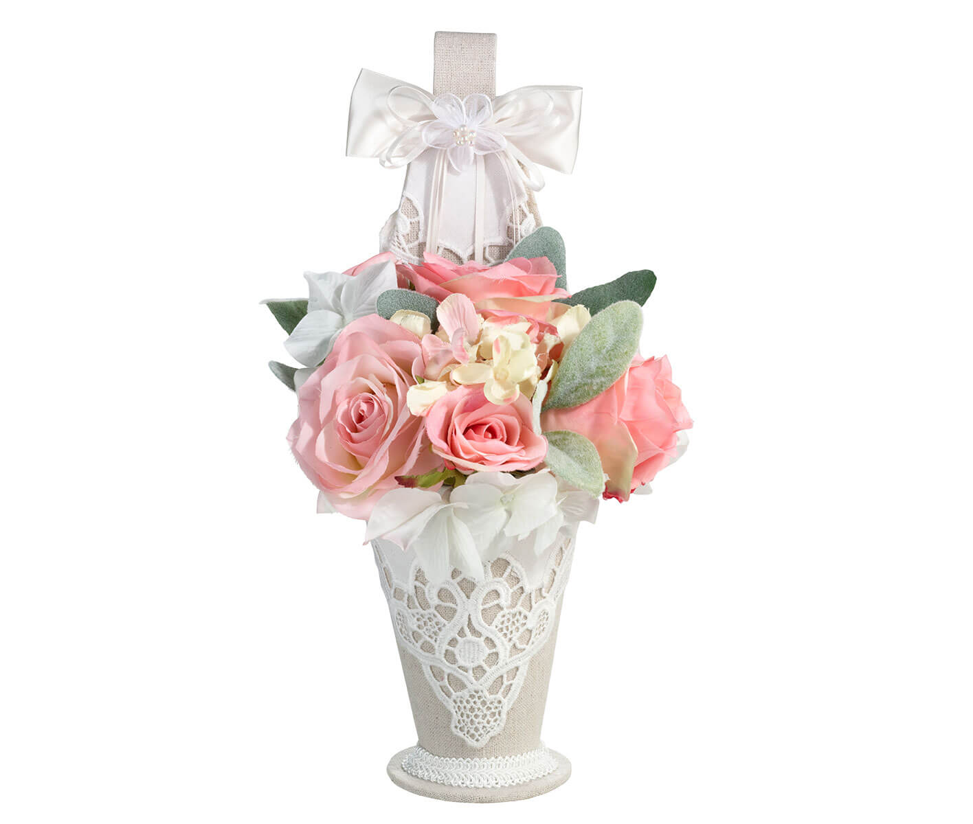 Country Lace Flower Girl Basket