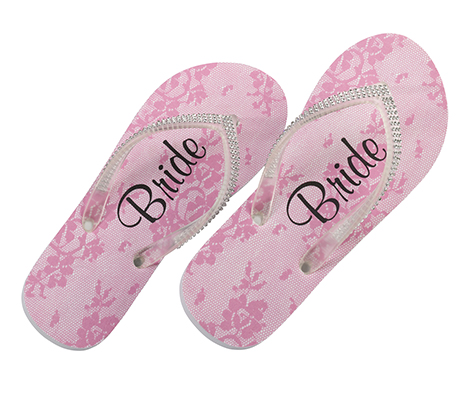 Bride Flip Flops with Bling Wedding Party