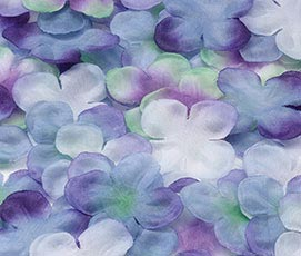 Flower Girl Silk Rose Petals Wedding Decor Purple
