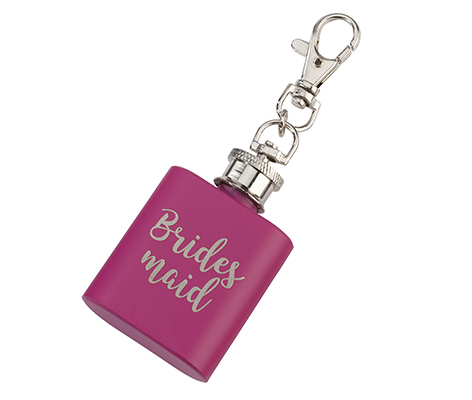 Pink Mini Flask Bridesmaid Wedding Gift Favor