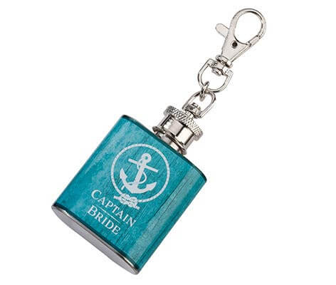 Mini Flask Captain Bride Coastal Wedding Favor