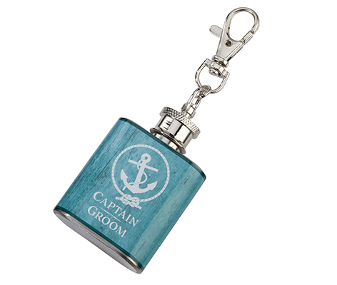 Mini Flask Captain Groom Coastal Wedding Favor