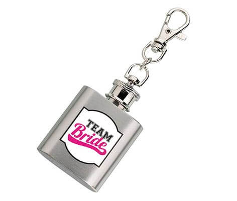 Silver Mini Flask Team Bride Wedding Gift Favor