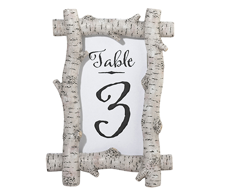 Rustic Birch Frame 4x6 Wedding Table Decor