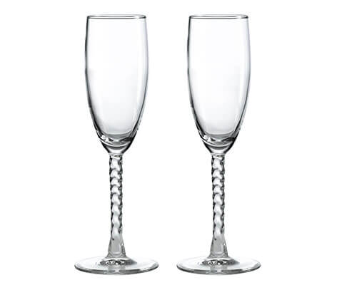 Simple Crystal Wedding Toasting Glasses