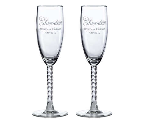 Personalized Wedding Toasting Glasses Script