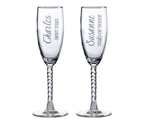 Personalized Toasting Glasses Wedding Party