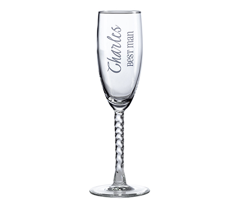 Personalized Wedding Toasting Glass Wedding Party