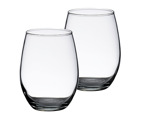 Simple Stemless Wedding Wine Glasses