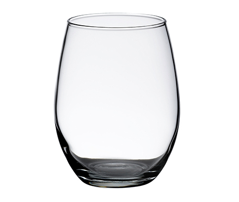 Plain Simple Single Stemless Wedding Wine Glass