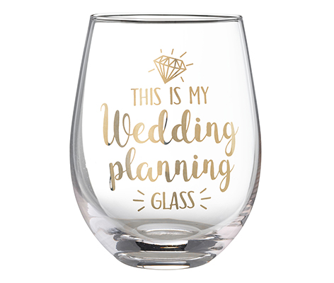 """This is My Wedding Planning Glass"" Stemless Wine Glass"