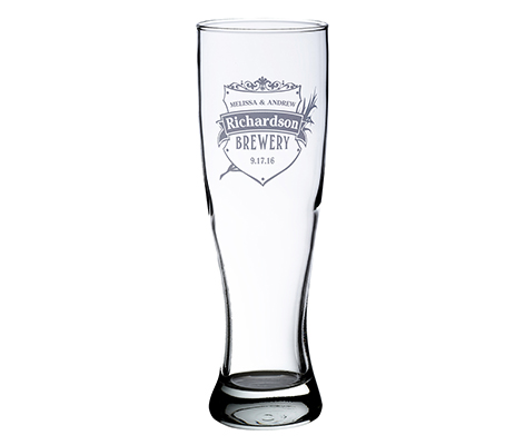 Personalized Brewery Theme Pilsner Beer Glass